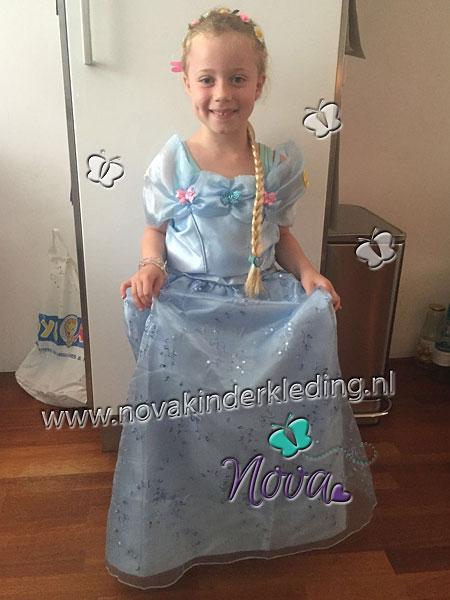 Cinderella Assepoester Prinsessenjurk Lichtblauw met vlinders Recensie Review Beoordeling klantbeoordeling