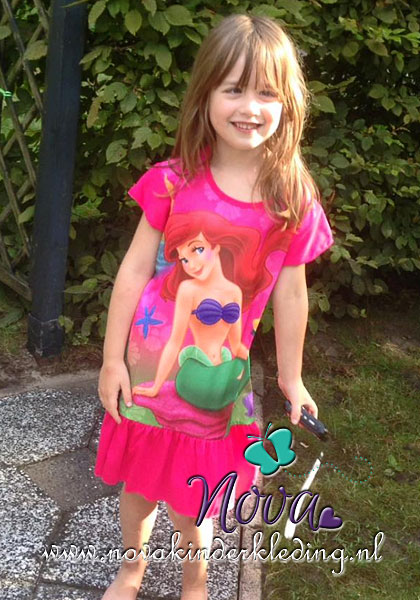 review recensie beoordeling tevreden klant prinses ariel jurkje pyjama