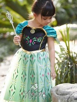 Disney Frozen Kroning Anna Jurk Gouden Details