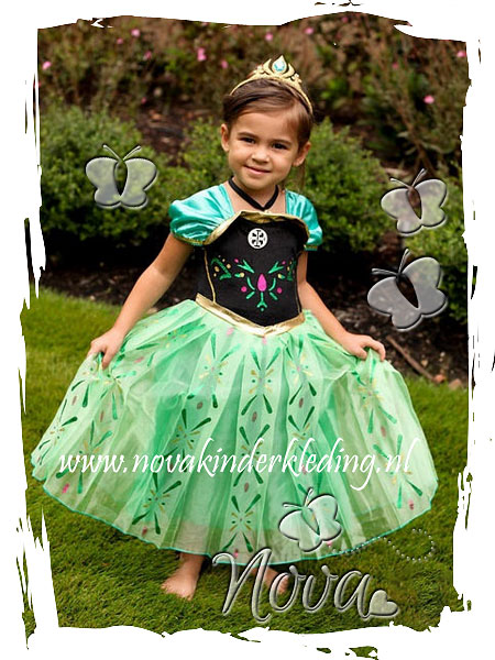 Verkleedkostuum-Prinsessenjurk-Prinses-Anna-Disney-Frozen