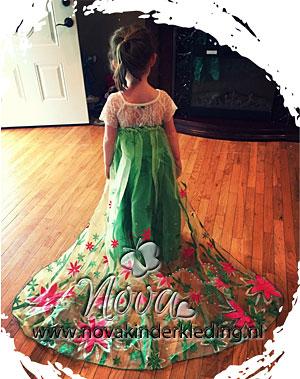Disney-Frozen-Fever-Flower-Jurk-Novakinderkleding
