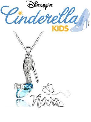 Prinses-Cinderella-ketting-Novakinderkleding-ZilverBlauw