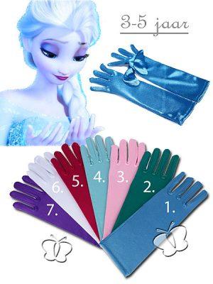 Frozen Cinderella magische handschoenen ijsblauw
