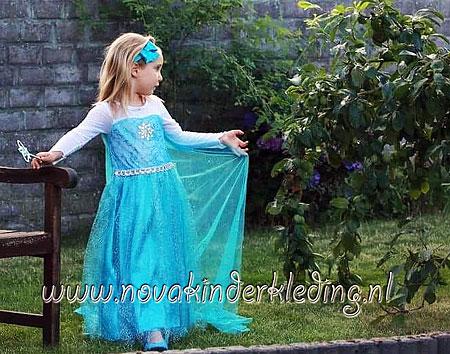 Elsa-Frozen-Prinsessenjurk-Glossy-Klassiek-Nova