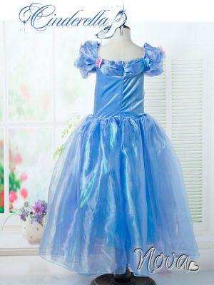 Cinderella Prinsessenjurk Achterkant Novakinderkleding