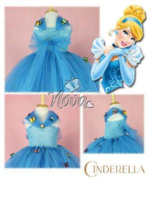Baljurk Prinsessenjurk Kinderkostuum Speeljurk Cinderella Assepoester Vlinders
