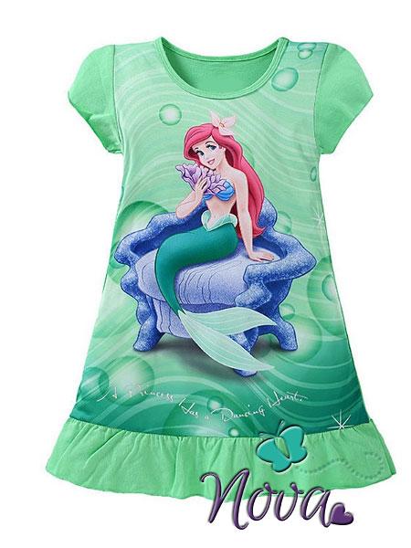timeless design 7f090 691a7 Prinses-Ariel-Nachtjapon-Pyjama-Nachthemd-Novakinderkleding ...