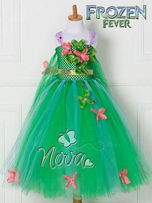 Frozen Fever Flower Tutu Prinsessenjurk Novakinderkleding