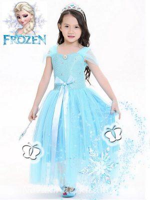 carnaval halloween prinsessenjurk verkleedjurk kinderkostuum frozen prinses elsa