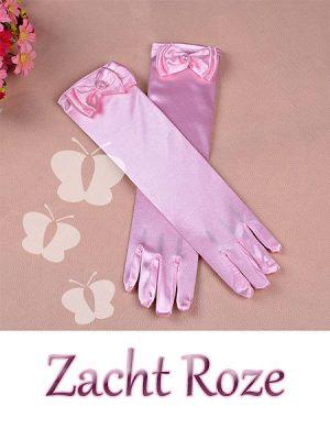 zacht roze prinsessen handschoenen