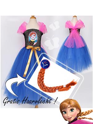 Gratis-Haarvlecht-Prinses-Anna-Frozen-Novakinderkleding