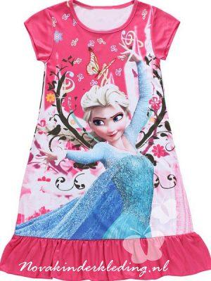 338e73e00f7703 Prinses Elsa - Pyjama/Jurkje/Nachtjapon - Fuchsia