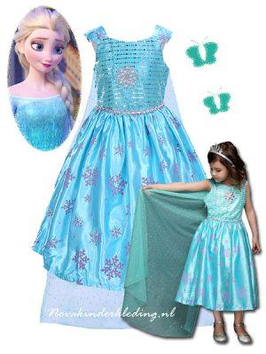 Dress-Prinsessenjurk-Elsa-Novakinderkleding