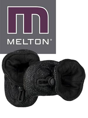 Melton babyslofjes zwart glitter